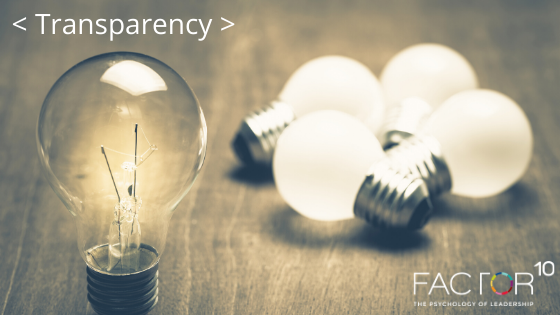 Transparency – the foundation of Agile Organisations